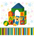 baby blocks toys vector image
