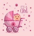 baby shower boy and girl vector image vector image