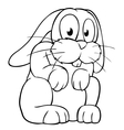Black and white cartoon rabbit vector image vector image