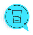 black line glass vodka icon isolated on white vector image vector image