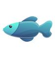 blue exotic fish icon cartoon style vector image