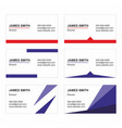business card templates set - printable vector image
