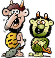 cartoon two funny goblins or trolls monsters vector image