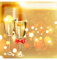 Celebration Background with Champagne vector image vector image