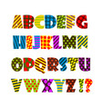 cheerful colored english alphabet vector image vector image