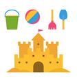 Children Sand Activities Set vector image vector image
