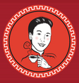 chinese retro person vector image vector image