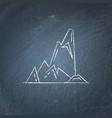 cliff with ledges icon on chalkboard vector image