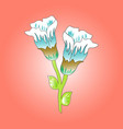 color image of a blossoming flower vector image vector image