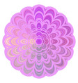 colorful abstract floral mandala art - digital vector image vector image