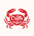 crabs and seafood abstract sign emblem vector image vector image