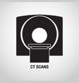 ct scans medical logo icon design vector image vector image
