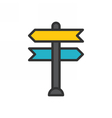 Decision Making Icon vector image vector image
