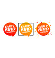 Early bird discount special offer sale icon