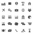 Economy icons on white background vector image vector image