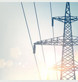 electrical transmission line of high voltage with vector image