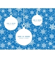 falling snowflakes Christmas ornaments silhouettes vector image