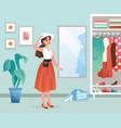 fashion woman flat cartoon vector image