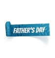 Fathers Day curved textile realistic Ribbon vector image vector image