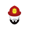 firefighter man flat icon isolated vector image