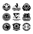 Fitness Badges vector image vector image