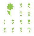 flower icon or symbol isolated vector image vector image