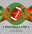 Football Emblem with Geometric Background vector image vector image