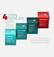 four steps template vector image vector image