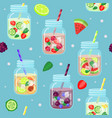 fresh drinks pattern vector image vector image