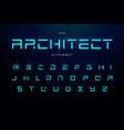 geometric letters set futuristic technology vector image