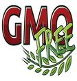 GMO FREE2 resize vector image vector image