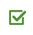 green check mark icon in a box tick symbol in vector image vector image