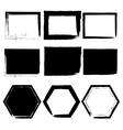 Grunge frames set black isolated on white vector image