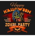 Halloween Party Flyer with of Female vector image vector image