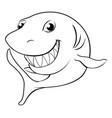 happy cartoon shark vector image vector image