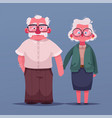 happy grandparents cartoon vector image vector image