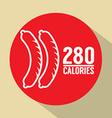 Hot Dog 280 Calories Symbol vector image vector image
