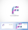 Letter F logo vector image vector image