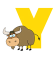 Letter Y With A Yak vector image vector image