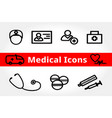 medical and health icons for design set vector image