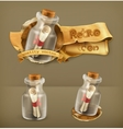 Message in bottle icon vector image vector image