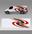 modern simple design for van graphics vinyl wrap vector image vector image
