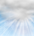 Morning Background with Fluffy Clouds vector image vector image