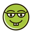 nerd funny smiley emoticon face expression line vector image