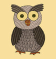 owl zendoodle zen tangle and doodle bird vector image vector image