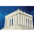 Parthenon in Athens Greece vector image