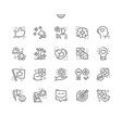 positive thinking well-crafted thin line icons vector image vector image