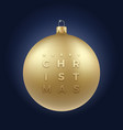 realistic golden glitter christmas bauble on vector image vector image