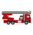 red fire truck mockup vector image