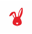 Red rabbit head and wine glass